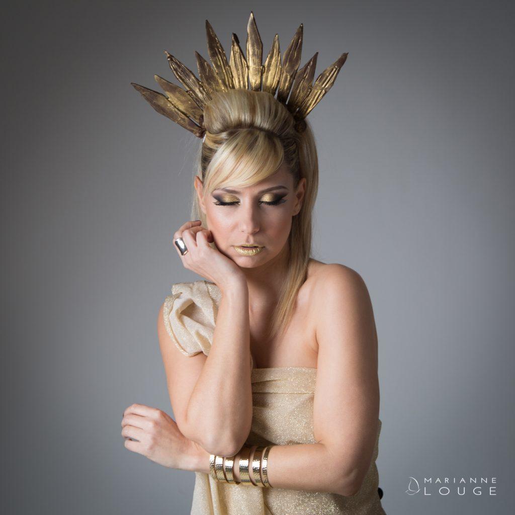 Angéla Hair stylist / Photographe Marianne Louge/ L'esquisse / Modèle Sophie