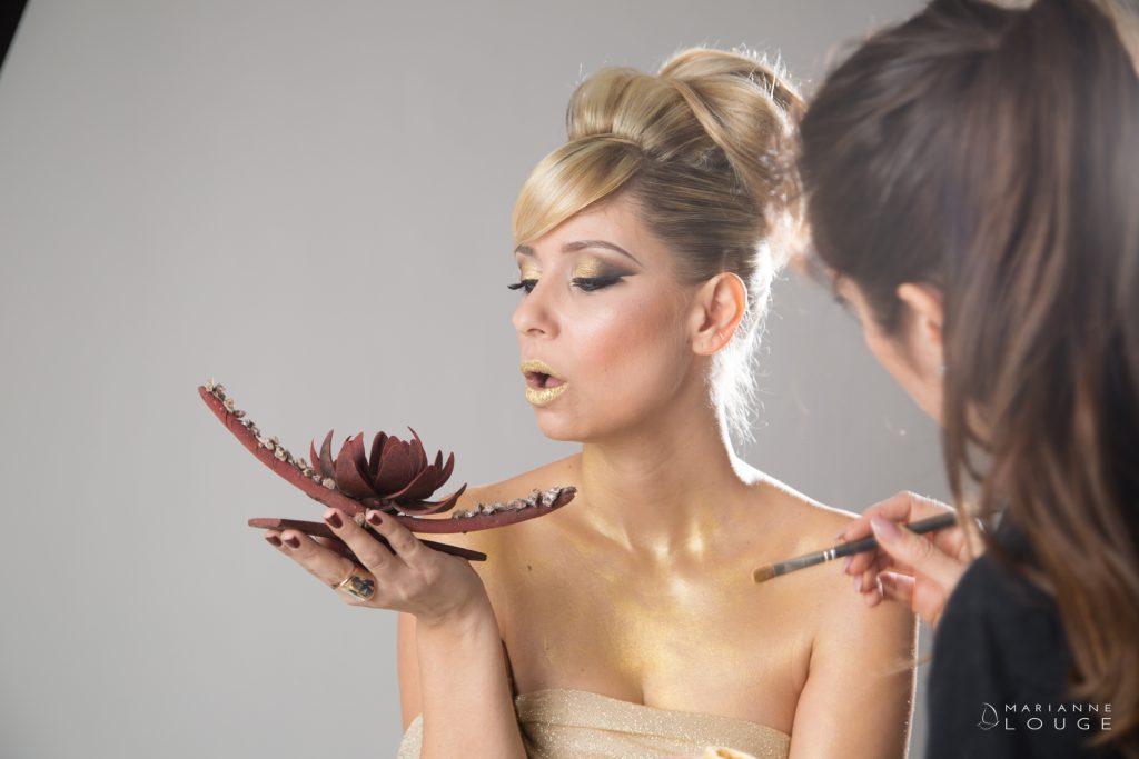 Angéla Hair stylist / Photographe Marianne Louge/ L'esquisse/ Modèle Sophie